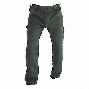 "Tecasafe Plus Wildland Fire Pants, Green, 30"" Inseam, Fits Waist Size 29"" to 31"""