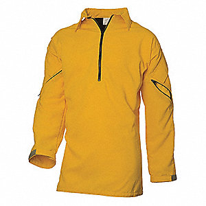 Wildland Fire Shirt ,L,Yellow,Zipper