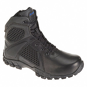 "6"" Work Boot Work Boots, Toe Type: Plain, Black, Size: 10-1/2"