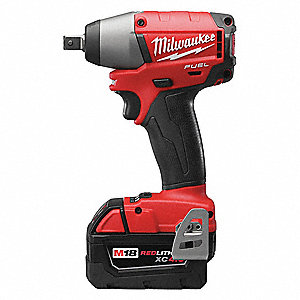 Milwaukee 1 2 Cordless Impact Wrench Kit 18 0 Voltage 220 Ft Lb Max Torque Battery Included 39ep09 2755 22 Grainger