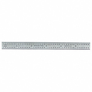 Ruler,Stainless Steel,6 In Length