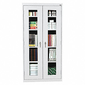 "Commercial Storage Cabinet, Dove Gray, 78"" H X 36"" W X 18"" D, Assembled"