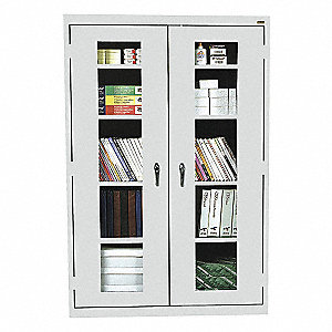 "Shelving Cabinet,72"" H,46"" W,Dove Gray"