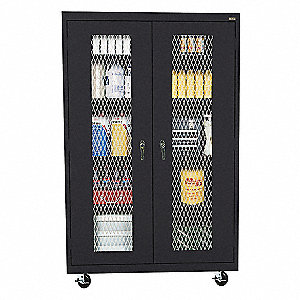 Mobile Cabinet,Black,46in.Wx24in.Dx78inH
