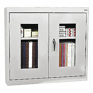 Dove Gray Wall Cabinet, Number of Shelves 2