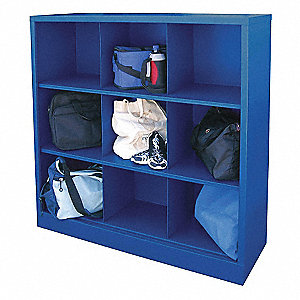 9-Compartment Cubbie Cabinet, Blue