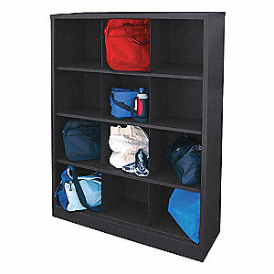 Cubbie Cabinet,Black,46in.Wx18in.Dx66inH
