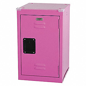 Wrdrb Lockr,Vent,1 Wide, 1 Tier,Pink