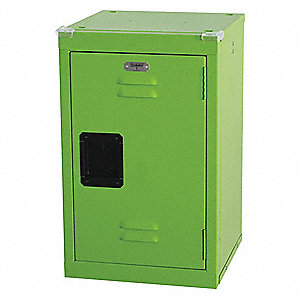 Wrdrb Lockr,Vent,1 Wide, 1 Tier,Green