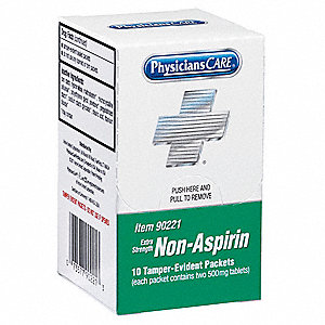 Non-Aspirin Pain Relief,Tablet,PK20