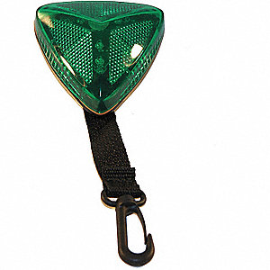 Warning Light,Green,LED,2 AA Batteries