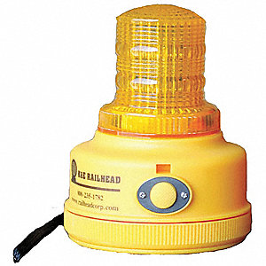 Warning Light,Amber,LED,2 D Batteries