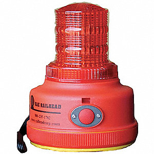 Warning Light,Red,LED,2 D Batteries