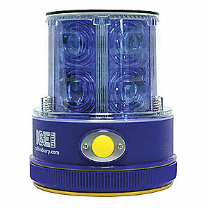 Rechargeable Safety Light,Blue,LED,Solar