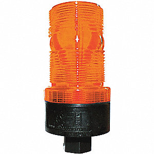Warning Strobe,Amber,LED,120VAC