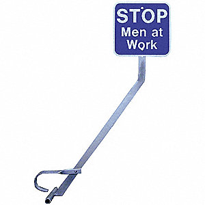 Rail Clamp Sign Holder With Sign