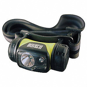 LED General Purpose Headlamp, Plastic, 50,000 hr. Lamp Life, Maximum Lumens Output: 44, Yellow