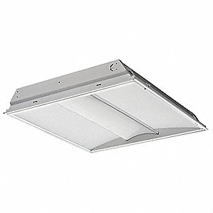 Recessed Troffer, LED Replacement For U-Bend, 3500K, Lumens 3891, Fixture Rated Life 50,000 hr.