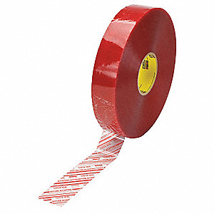 914m x 48mm Polypropylene Carton Sealing Tape, Red on Clear
