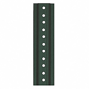 "U-Channel Sign Post, Breakaway Feature: No, 84""L, Steel, Green"