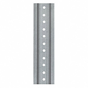 U-Channel Sign Post, Breakaway Feature: No, 12 ft.L, Steel, Silver