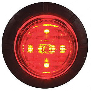 Perimeter Light,LED,Hood Mt,Red/Wh,5 In