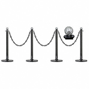 Solar Stanchion Kit,40 In. H