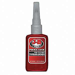 Threadlocker,36mL Bottle,Red