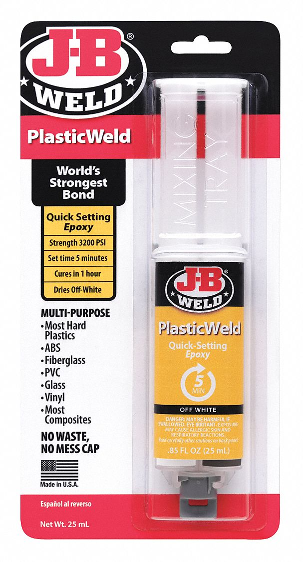 Epoxy Adhesive,  Syringe,  0.85 oz,  Translucent Yellow,  5 min Work Life