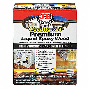 Epoxy Kity,Wood Restore,Clear,32 oz.