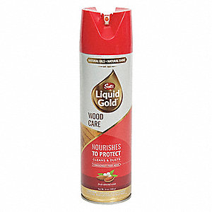 Wood Cleaner Preservative, Almond Fragrance, 14 oz. Aerosol Can, 1 EA