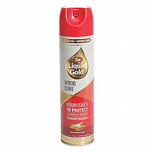 Wood Cleaner Preservative, Fresh Almond Scent Fragrance, 10 oz. Aerosol Can, 1 EA