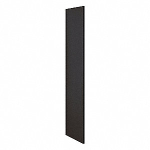 End Panel,Black,72inH x 21inW x 3/4inD