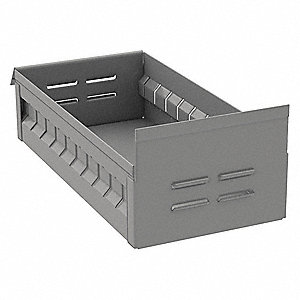 "Drawer Bin, Gray, 3-1/4""H x 12""L x 5-1/2""W, 1EA"