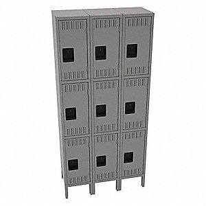 Wrdrb Lockr,Lvrd,3 Wd,3 Tier,Medium Gra