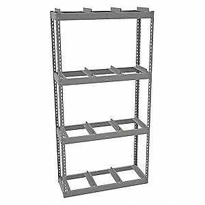 "Starter Record Archive Shelving with None Decking, 4 Shelves, 42""W x 15""D x 84""H"