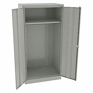 "Commercial Storage Cabinet, Light Gray, 72"" H X 36"" W X 24"" D, Unassembled"