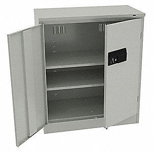 "Storage Cabinet, Light Gray, 42"" Overall Height, Assembled"