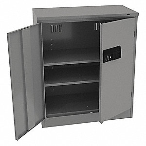 "Commercial Storage Cabinet, Medium Gray, 42"" H X 36"" W X 18"" D, Assembled"