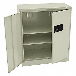 "Shelving Cab,36""H,36""W,Champagne/Putty"