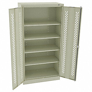 Strge Cab,Chmpg/Putty,24 Gauge,4 Shelves