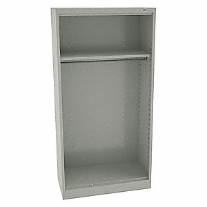 "Wardrobe Cabinet,72"" H,36"" W,Light Gray"
