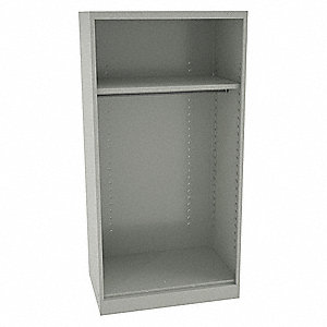 Wardrobe Storage Cab,Light Gray,24in.D