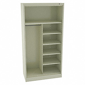 Storage Cab,Chmpg/Putty,36in.W,5 Shelves