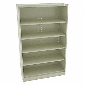 "48"" x 24"" x 78"" Freestanding Steel Shelving Unit, Champagne/Putty"
