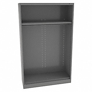 "Commercial Storage Cabinet, Medium Gray, 78"" H X 48"" W X 24"" D, Assembled"
