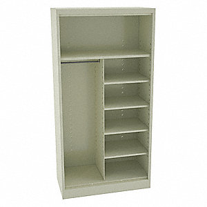 "Commercial Storage Cabinet, Champagne/Putty, 72"" H X 36"" W X 24"" D, Assembled"