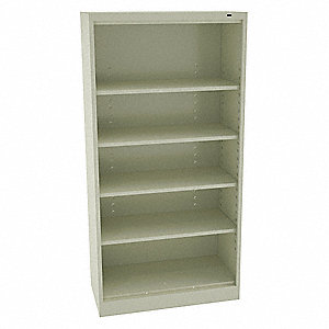 "36"" x 24"" x 72"" Freestanding Steel Shelving Unit, Champagne/Putty"