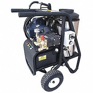 Heavy Duty (2800 to 3299 psi) Electric Cart Pressure Washer, Hot Water Type, 4.0 gpm, 3000 psi