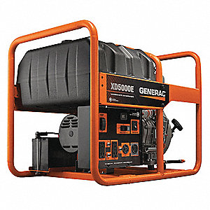 GENERAC Electric Recoil Diesel Portable Generator 5000 Rated Watts 5500 Surge 120VAC 240VAC